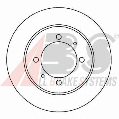 Диск тормозной MITSUBISHI/VOLVO CARISMA/S40/V40 задний (пр-во ABS) фото, цена