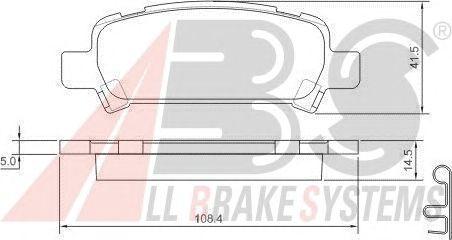 Колодки тормозные SUBARU (СУБАРУ) IMPREZA/LEGACY/FORESTER задние (пр-во ABS) фото, цена