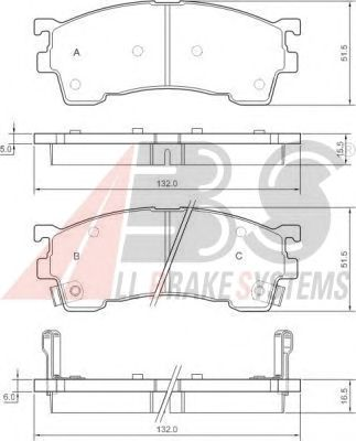 Колодки тормозные FORD (ФОРД)/MAZDA 323/626/MX6/XEDOS 6 передние (пр-во ABS) фото, цена