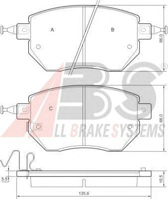 Колодки тормозные INFINITI/NISSAN FX35/45/MURANO/PATHFINDER передние (пр-во ABS) фото, цена