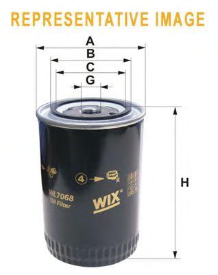 Фильтр масляный DAF (ДАФ) (Truck) (пр-во WIX-Filtron) WL7096/OP549 фото, цена