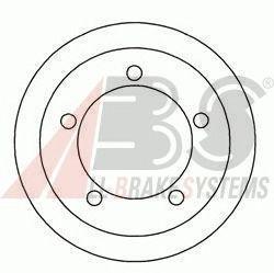 Барабан тормозной FORD (ФОРД) TOURNEO/TRANSIT задний (пр-во ABS) фото, цена