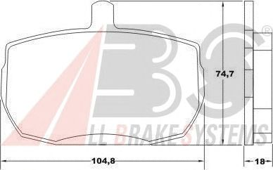 Колодки тормозные FORD (ФОРД) передние (пр-во ABS) фото, цена
