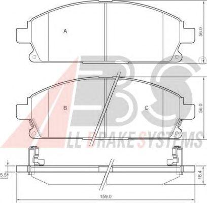 Колодки тормозные NISSAN (НИССАН) PATHFINDER (R50) передние (пр-во ABS) фото, цена