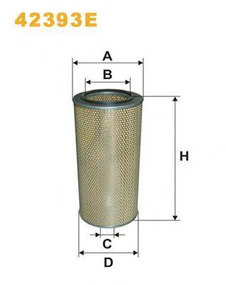Фильтр воздушный (пр-во WIX-Filtron) 42393E/408/1 фото, цена