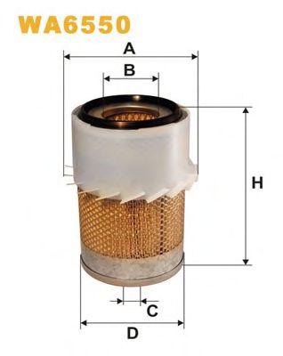 Фильтр воздушный (пр-во Wix-Filtron) WA6550/AM470 фото, цена