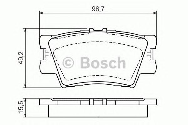 Колодки тормозные TOYOTA (ТОЙОТА) CAMRY, RAV 4 задн. (пр-во Bosch) фото, цена