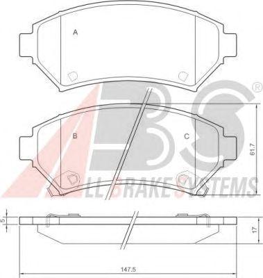 Колодки тормозные OPEL (ОПЕЛЬ) SINTRA передние (пр-во ABS) фото, цена