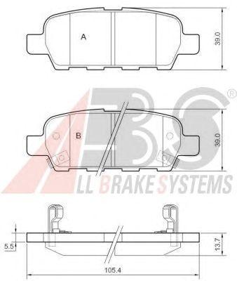 Колодки тормозные NISSAN/RENAULT QASHQAI/X-TRAIL/KOLEOS задние (пр-во ABS) фото, цена