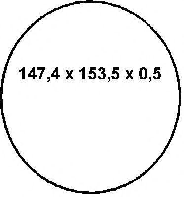 Уплотнительное кольцо гильзы MERCEDES-BENZ (МЕРСЕДЕС-БЕНЦ) 147.4x153.5x0.5 (пр-во Elring) фото, цена