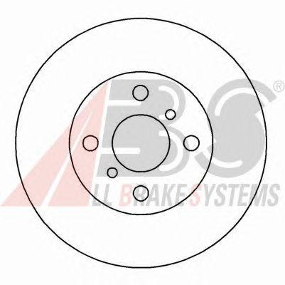 Диск тормозной TOYOTA (ТОЙОТА) COROLLA передний вентилируемый (пр-во ABS) фото, цена