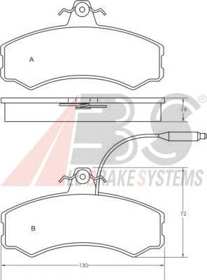 Колодки тормозные FIAT (ФИАТ) DUCATO передние (пр-во ABS) фото, цена