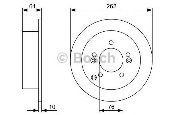 Диск тормозной HYUNDAI (ХЮНДАЙ) SONATA V, TUCSON задний (пр-во Bosch) фото, цена