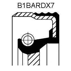 Сальник N ALFA/FIAT (ФИАТ) B1BARDX7 30X52X7 ACM (пр-во Corteco) фото, цена