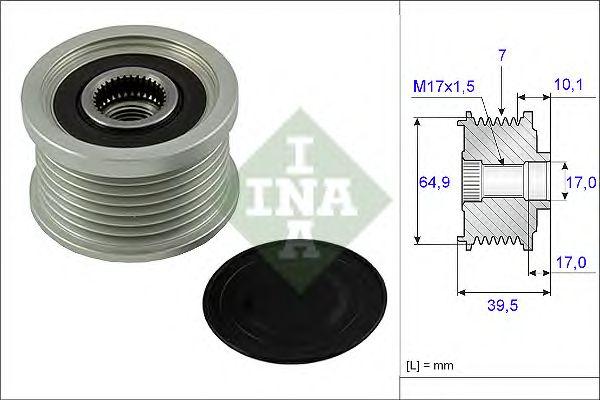 Механизм свободного хода генератора NISSAN (НИССАН) (пр-во Ina) фото, цена