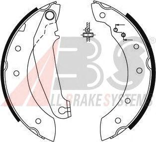 Колодки тормозные барабанные VOLVO (ВОЛЬВО) 440/460 SERIE задние (пр-во ABS) фото, цена