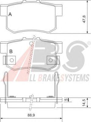 Колодки тормозные HONDA (ХОНДА) ACCORD/CIVIC/LEGEND задние (пр-во ABS) фото, цена