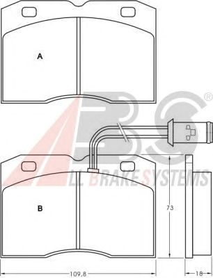 Колодки тормозные IVECO (ИВЕКО) DAILY 30/35/40 передние (пр-во ABS) фото, цена