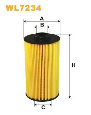 Фильтр масляный BMW (БМВ) E38 (пр-во WIX-Filtron) WL7234/OE649/3 фото, цена