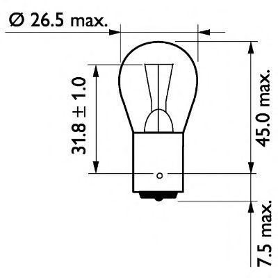 Лампа 24V P21W24V 21W BA15s(пр-во Philips) фото, цена