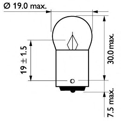 Лампа 24V R10W24V 10W BA15s (пр-во Philips) фото, цена