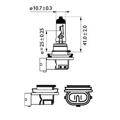 Лампа 12v 55w PGJ19-2 H11 LongerLife Ecovision (пр-во Philips) фото, цена
