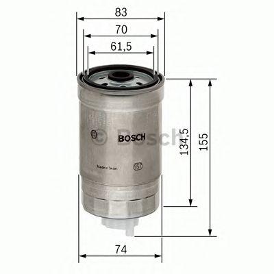 Фильтр топливный (пр-во Bosch) фото, цена
