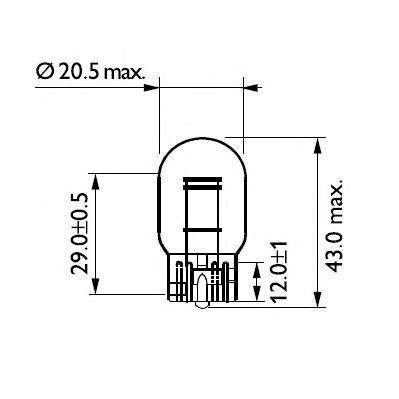 Лампа накаливания W21/5W12V 21/5W W 3X16q(пр-во Philips) фото, цена