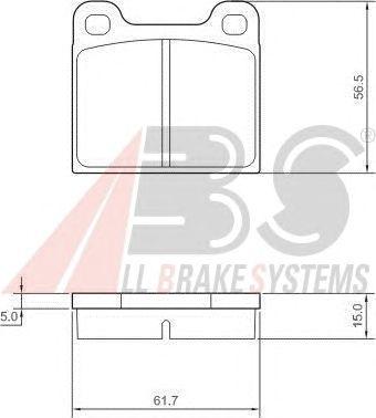 Колодки тормозные передние ALFA ROMEO (АЛЬФА РОМЕО)/MB/OPEL/VOLVO (пр-во ABS) фото, цена