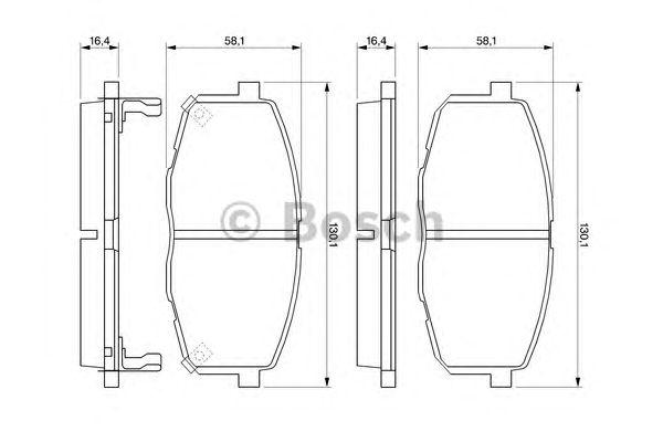 Колодки тормозные KIA (КИА) CEE'D, VOLKSWAGEN (ФОЛЬЦВАГЕН) T3 передн. (пр-во Bosch) фото, цена