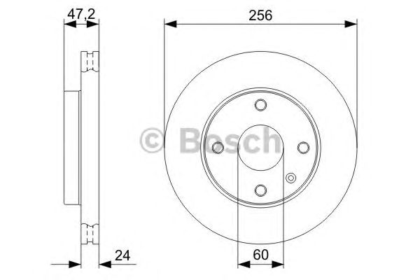 Диск тормозной CHEVROLET (ШЕВРОЛЕ) LACETTI (пр-во Bosch) фото, цена