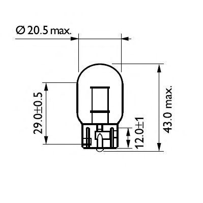 Лампа накаливания W21W12V 21W W 3X16d(пр-во Philips) фото, цена