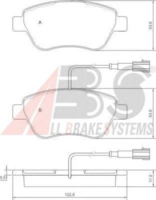 Колодки тормозные ALFA ROMEO (АЛЬФА РОМЕО)/FIAT (ФИАТ)/LANCIA передние (пр-во ABS) фото, цена