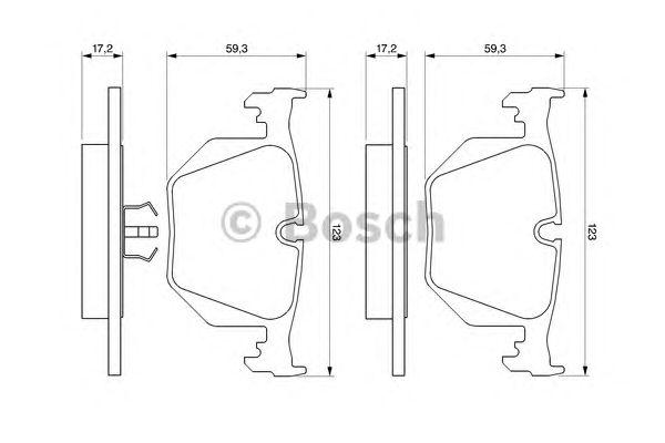 Колодки тормозные задние BMW (БМВ) 3 (E46)  (пр-во Bosch) фото, цена