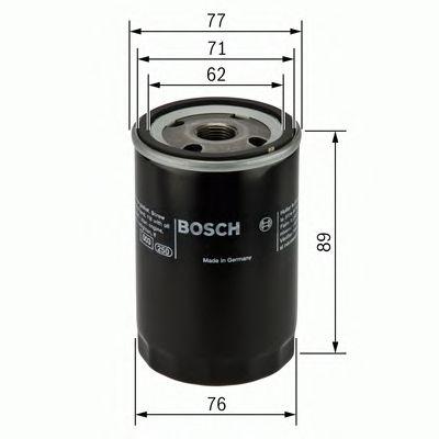 Фильтр масляный Lanos, Aveo, Lacetti, Nubira, Nexia (пр-во Bosch) фото, цена
