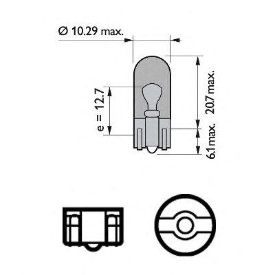Лампа накаливания WY5W 12V 5W W 2,1X9,5d (пр-во Philips) фото, цена