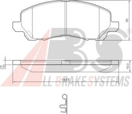 Колодки тормозные MITSUBISHI (МИЦУБИСИ) GALANT/SPACERUNNER передние (пр-во ABS) фото, цена