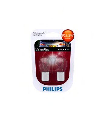 Лампа накаливания P21/5WVisionPlus12V 21/4W BAY15d(пр-во Philips) фото, цена