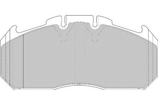 Колодки тормозные дисковые (комплект на ось) MAN, EFR №WVA 29131 С (пр-во Beral) фото, цена