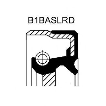Сальник FRONT/N OPEL (ОПЕЛЬ) B1BASLRD 35X48X7 VMQ (пр-во Corteco) фото, цена