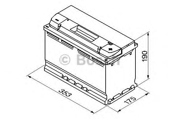 Аккумулятор  100Ah-12v BOSCH (S5013) (315x175x190),R,EN830 (1-й сорт) фото, цена