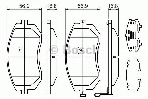 Гальмівні колодки, дискові (пр-во Bosch) фото, цена