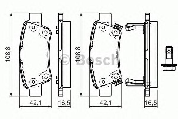 Гальмівні колодки дискові (пр-во Bosch) фото, цена