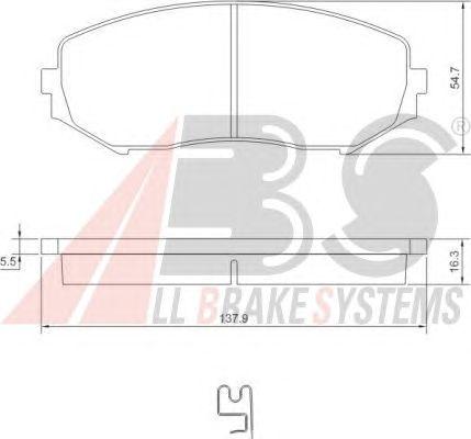 Колодки тормозные SUZUKI (СУЗУКИ) GRAND VITARA передние (пр-во ABS) фото, цена