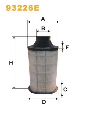 Фильтр воздушный (пр-во WIX-Filtron) 93226E/442/3 фото, цена
