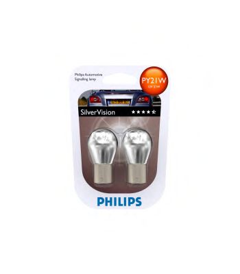 Лампа накаливания PY21WSilverVision12V 21W BAU15s(пр-во Philips) фото, цена