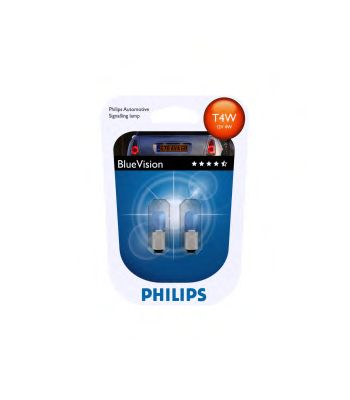 Лампа накаливания T4WBlueVision12V 4W BA9s(пр-во Philips) фото, цена