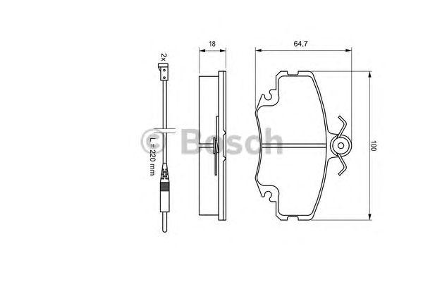 Колодки тормозные DACIA (ДАЧИЯ) Logan передние (пр-во Bosch) фото, цена
