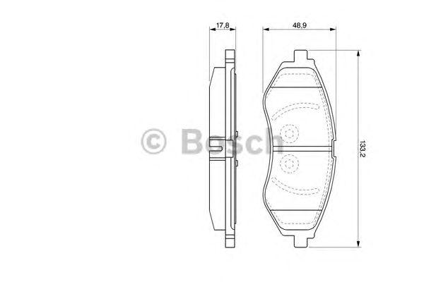 Колодки тормозные CHEVROLET (ШЕВРОЛЕ) AVEO передн. (пр-во Bosch) фото, цена