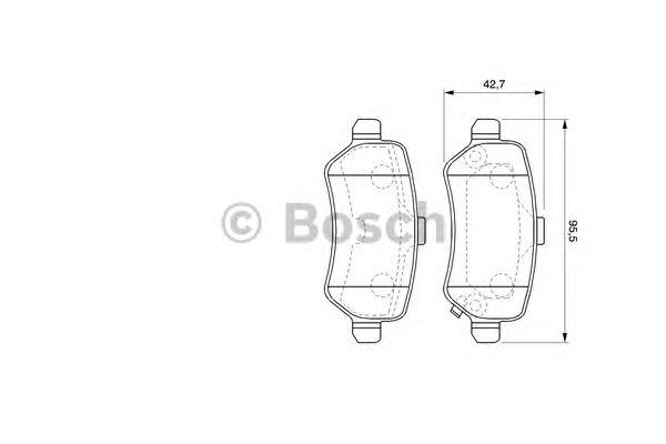 Комплект колодок тормозных OPEL (ОПЕЛЬ) ASTRA G задние (пр-во Bosch) фото, цена